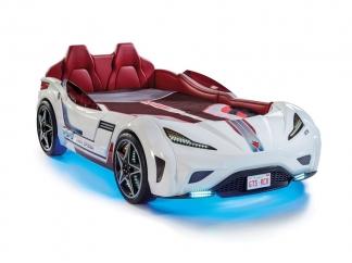 Champion racer Кровать-машина GTS, белая, сп. м. 100х190