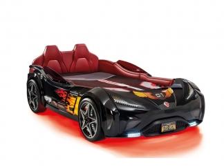 Champion racer Кровать-машина GTS, черная, сп. м. 100х190