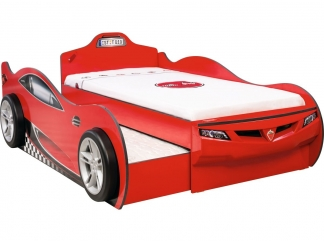 Champion racer Кровать-машина Coupe c выдвижной кроватью, красная, сп. м. 90х190/90х180 купить