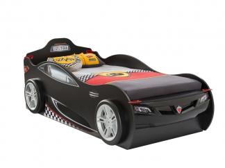 Champion racer Кровать-машина Coupe c выдвижной кроватью, черная, сп. м. 90х190/90х180