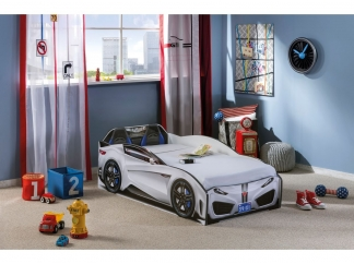Champion racer Кровать-машина Spyder, белая, сп. м. 70х130