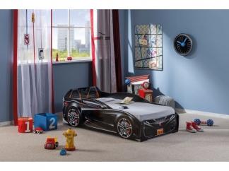 Champion racer Кровать-машина Spyder, черная, сп. м. 70х130