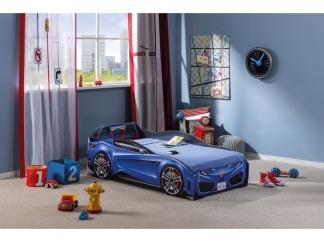 Champion racer Кровать-машина Spyder, синяя, сп. м. 70х130