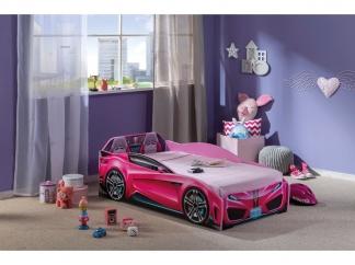 Champion racer Кровать-машина Spyder, розовая, сп. м. 70х130 купить