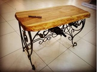 Консольный стол (слэб карагач) Хайфа 3