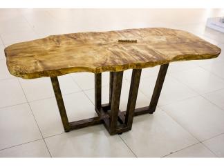 Стол Тира 3 из слэба дерева (тополь)