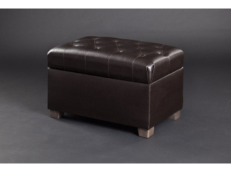 Банкетка Зара темно-коричневая