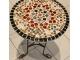 Кованый стол с мозаикой Эрика_20 d40 купить