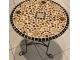 Кованый столик с мозаикой Золотая лихорадка_17 d50 купить