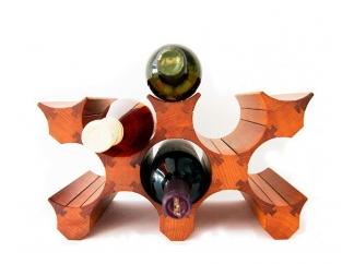 Подставка для бутылок вина 8 (светлая) купить