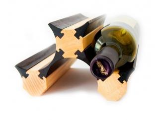 Подставка для бутылок вина 3 (светлая) купить