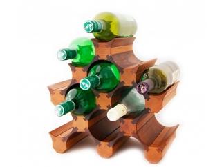 Подставка для бутылок вина 11 (темная)