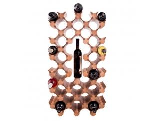 Деревянная полка для винных бутылок 39