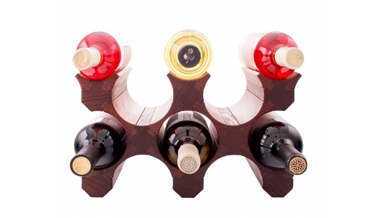 Подставка для бутылок вина 8 (темная)