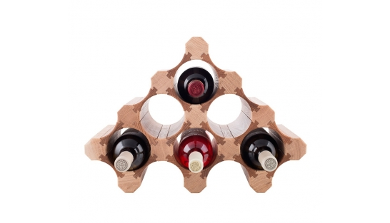 Деревянная полка для винных бутылок 6-2