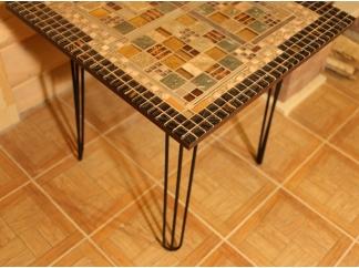 Кованый столик с мозаикой Квадро_1 70*70см