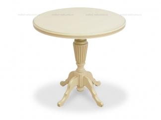 Кофейный столик 80 Слоновая кость с золотом