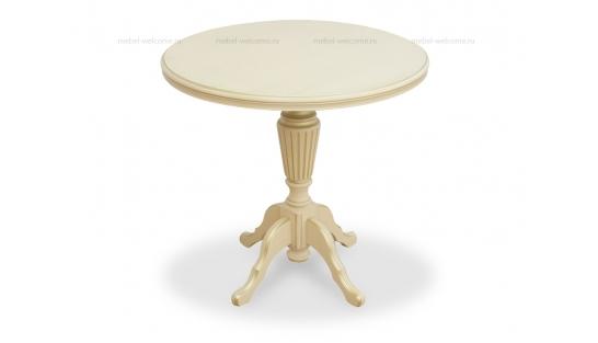 Чайный столик 80 Слоновая кость с золотом купить