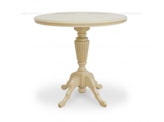 Чайный столик 70 Слоновая кость с золотом