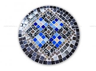 Кованый стол с мозаикой Эрика_23 d40
