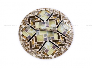Кованый стол с мозаикой Пикассо_5 d40 купить