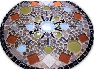 Столик с мозаичной столешницей  Элиза_14 D50