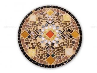Кованый столик с мозаикой Золотая лихорадка_23 d50