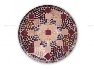 Журнальный столик с мозаикой Золотая лихорадка_7 d50 купить