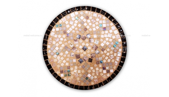 Столик круглый мозаичный Эрика_19 d40 купить