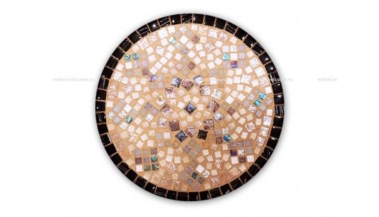 Стол круглый мозаичный