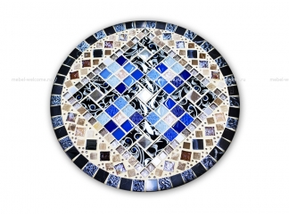 Кованый стол с мозаикой  Эрика_22 d40