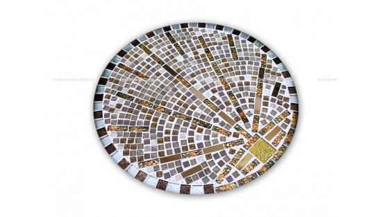 Журнальный стол мозаика Лучи удачи_1 d50 купить