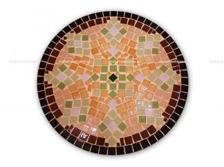 Стол украшенный мозаикой Элиза_3 d50