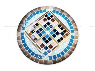 Столик круглый мозаичный Эрика_29 d40