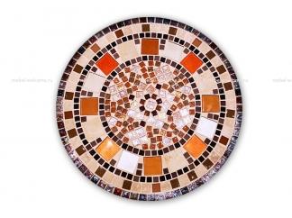 Журнальный стол с мозаикой Золотая лихорадка_2 d50 купить