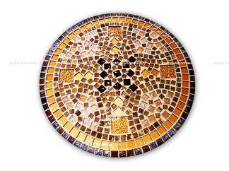 Журнальный столик с мозаикой Золотая лихорадка_4 d50 купить