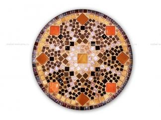 Журнальный столик с мозаикой Золотая лихорадка_5 d50 купить