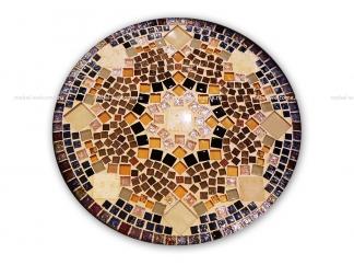 Журнальный столик с мозаикой Золотая лихорадка_6 d50