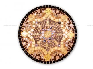 Кованый столик с мозаикой Золотая лихорадка_12 d50 купить