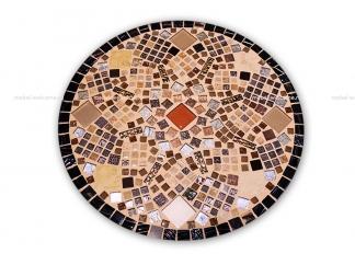 Кованый столик с мозаикой Золотая лихорадка_18 d50