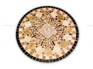 Кованый столик с мозаикой Золотая лихорадка_19 d50 купить