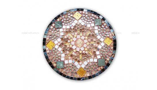 Круглая столешница мозаика Золотая лихорадка_20 d50 купить