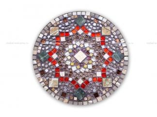 Кованый столик с мозаикой Золотая лихорадка_22 d50 купить