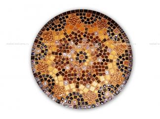 Стол круглый мозаичный Венский кофе_4 d50