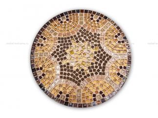 Стол обеденный с мозаикой Венский кофе_6 d50