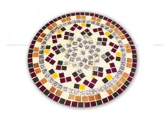 Стол украшенный мозаикой Каприз_3 d50