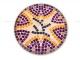 Стол украшенный мозаикой