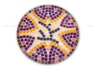 Столик украшенный мозаикой Каприз_2 d50
