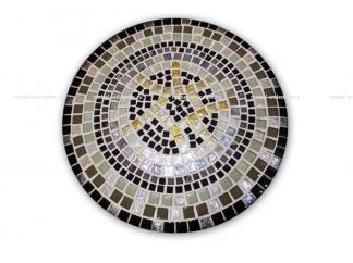Стол украшенный мозаикой Каприз_1 d50