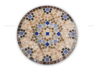 Круглая столешница мозаика  Эрика_12 d40